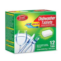 Home Select Dishwasher Tablets Fresh Scent 12 Ea [808829108453]