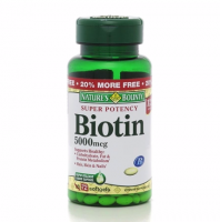 Nature's Bounty Biotin 5000 mcg Liquid Softgels 60 ea [074312134302]