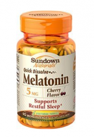Sundown Naturals Quick Dissolve Melatonin 5 mg Microlozenges Cherry Flavor 90 Each [030768528164]