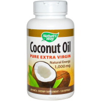 Nature's Way Coconut Oil Pure Extra Virgin Softgels 1000 mg 120 ea [033674100097]