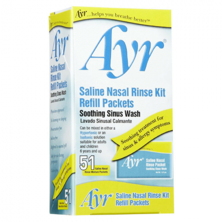 Ayr Sinus Rinse Kit Refill Packets 51 Each [302250705910]