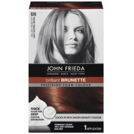 John Frieda Precision Foam Colour Brilliant Brunette (Light Natural Brown) 6N 1 Each [717226161971]