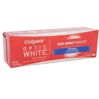 Colgate  Optic White Platinum High Impact White Anticavity Flouride Toothpaste, Glistening Mint 3 oz [035000760180]