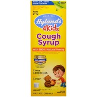 Hyland's Cough Syrup with 100% Natural Honey 4 Kids 4 oz [354973752412]