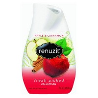 Renuzit Fresh Picked Collection Gel Air Freshener, Apple and Cinnamon 7 oz [019800036744]