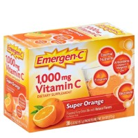 Emergen-C Vitamin C Flavored Fizzy Drink Mix Packets, Super Orange 30 ea [076314302031]