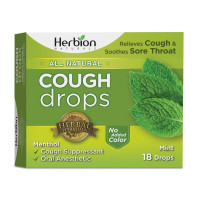 Herbion  Naturals Cough Drops with Natural Mint Flavor, 18 ea [040232174971]