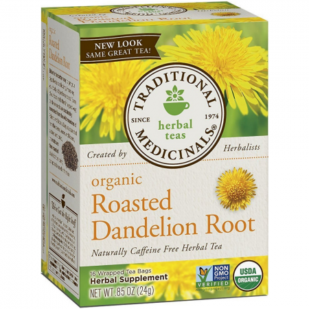 Traditional Medicinals Organic Herbal Tea Bags, Roasted Dandelion Root 16 ea [032917001658]