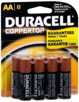 Duracell Coppertop AA Alkaline Batteries 1.5 Volt 8 Each [041333825014]