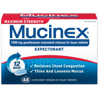 Mucinex Expectorant Extended-Release Tablets, Maximum Strength 48 ea [363824023489]