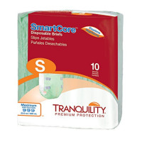 Adult Incontinent Brief Tranquility SmartCore Tab Closure Small Disposable Heavy Absorbency - 10 ea  [070319023113]