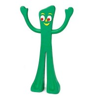 Multipet 9'' Gumby Rubber Dog Toy 1 ea [784369166811]