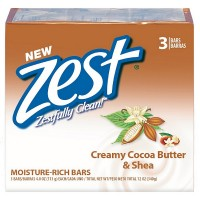 Zest Bath Bars, Cocoa Butter & Shea, 4 oz bars, 3 ea [816559012612]