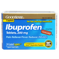 Good Sense Ibuprofen Pain Reliever/Fever Reducer Caplets 24 ea [070030135126]