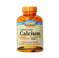 Sundown Naturals Calcium plus Vitamin D3, 1200mg, Softgels 170 ea [030768134389]