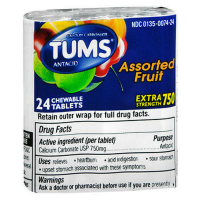 TUMS E-X 750 Tablets Assorted Fruit 24 ea [307660739210]