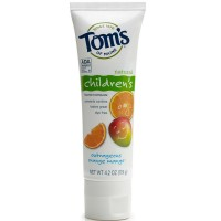 Tom's of Maine Children's Natural Fluoride Toothpaste, Outrageous Orange Mango 4.2 oz [077326830949]