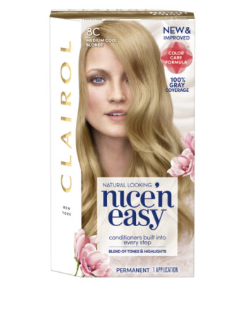 Nice 'n Easy Permanent Color, Natural Medium Cool Blonde 8C ``1 kit [070018117359]