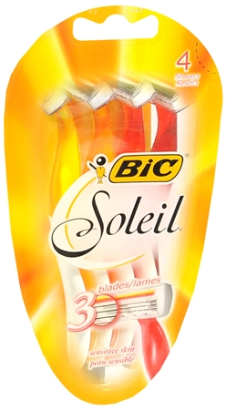 Bic Soleil Triple Blade Shavers For Women Sensitive Skin 4 Each [070330713000]