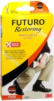 FUTURO Restoring Dress Socks For Men Firm Large Brown 1 Pair [382250056359]