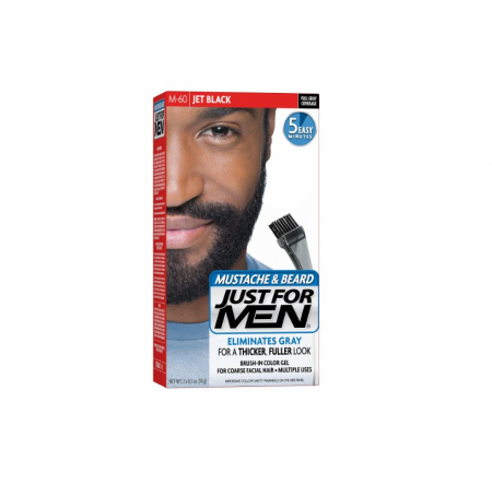 JUST FOR MEN Color Gel Mustache, Beard & Sideburns 115 Jet Black 1 Each [011509049063]