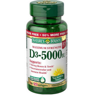 Nature's Bounty Super Strength D-2000 IU Softgels 150 Soft Gels [074312176210]