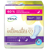 TENA Incontinence Pads for Women, Overnight, 45 Count 1 ea [768702543408]