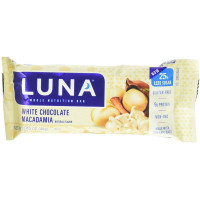Luna Organic Nutrition Bar, 1.69 oz Bars, White Chocolate Macadamia  15 ea [722252100672]