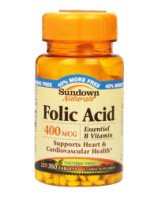 Sundown Folic Acid 400 mcg Tablets 350 ea [030768040697]