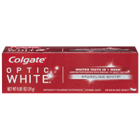 Colgate Optic White Anticavity Fluoride Toothpaste Sparkling Mint, 0.85 oz [035000765703]