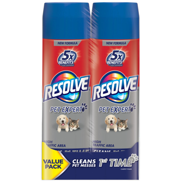 Resolve Pet Formula High Traffic Carpet Cleaner Foam 2 X