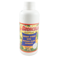Broncolin Honey Cough Relief Syrup with Natural Plant Extracts Dietary Supplement, Regular 11.4 oz [714706100109]