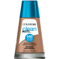 CoverGirl Clean Matte Liquid Foundation, Natural Beige [540] 1 oz [008100004041]