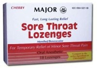 Sore Throat Relief Major 15 mg  4 mg Strength Lozenge - 18 ea [309046255499]