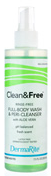 Clean & Free Fresh Fragrance Rinse Free Shampoo and Body 8 oz [714196193087]