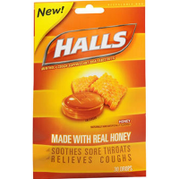Halls Cough Suppressant/Oral Anesthetic Drops, Honey 30 ea [312546001879]