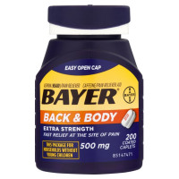 Bayer Back & Body Extra Strength Aspirin/Pain Reliever Coated Caplets 200 ea [312843559967]