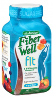 Vitafusion FiberWell Fit Gummies, Peach, Strawberry & Berry, 90 Each [027917018935]