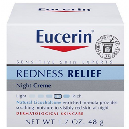 Eucerin Redness Relief, Night Creme 1.70 oz [072140634674]