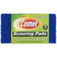 Comet Scouring Pads, Assorted Colors 3 ea [071582001969]