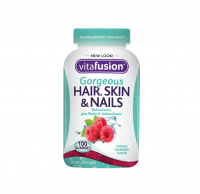 Vitafusion Gorgeous Hair, Skin & Nails Multivitamin, Gummies, Raspberry 100 ea [027917020051]