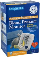 LifeSource Advanced Blood Pressure Monitor Manual Inflate UA-705VL 1 Each [093764601583]