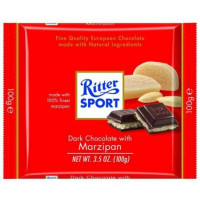 Ritter Sport Dark Chocolate Bars, 3.5 oz Bars,  With Marzipan 12 ea [050255025006]