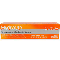 Hydralyte Effervescent Electrolyte Tablet, Orange Flavored 20 ea [856069006053]
