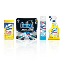 LYSOL Total Clean Home Bundle with Finish Quantum Dishwasher Tabs (36 ct.), Lysol Disinfecting Wipes (Lemon & Lime Blossom, 80 ct.) 1  ea [191567839124]