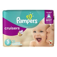 Pampers Cruisers Diapers, Size 5 Jumbo Pack 21 ea [037000862604]