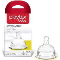 Playtex Baby NaturaLatch Silicone Nipple, Fast Flow 2 ea [078300040828]