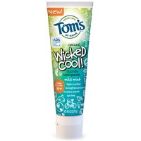 Tom's of Maine Wicked Cool! Toothpaste Anticavity with Fluoride, Mild Mint  4.2 oz [077326832622]