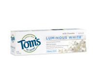 Tom's of Maine Luminous White Whitening Natural Toothpaste, Clean Mint 4.7 oz [077326834572]