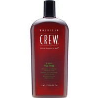 American Crew 3-In-1 Shampoo & Conditioner & Body Wash, Tea Tree 33.8 oz [669316223062]